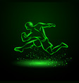 green neon strong runner vector image vector image