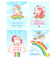 greeting card writing design for girl with slogan vector image vector image
