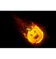 Halloween Pumpkin in Fire vector image