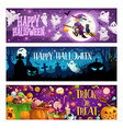halloween trick or treat cemetery and sweets vector image vector image