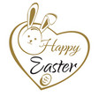 happy easter hand lettering card easter greeting vector image vector image