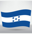 honduran flag icon vector image