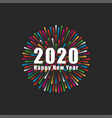 inscription number 2020 logo and happy new vector image vector image