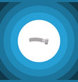 isolated coiled wire flat icon corrugated pipe vector image vector image