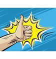 Like Well Fine Hitchhiking journey Gesture Pop vector image vector image