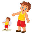 little boy with a rash on his hands and vector image vector image