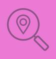 location search color linear icon vector image vector image