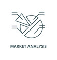 market analysis line icon linear concept vector image vector image