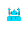 mosque logo design vector image