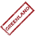 New Greenland rubber stamp vector image vector image