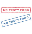 no testy food textile stamps vector image vector image
