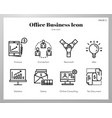 office business icons line pack vector image