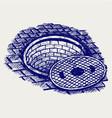Opened street manhole vector image vector image