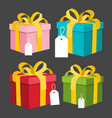 paper gift boxes set present box vector image