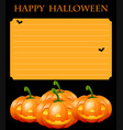 paper template with halloween theme vector image vector image