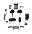 park icons set simple ctyle vector image vector image
