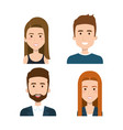 peoples faces set vector image