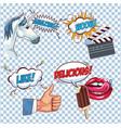 pop art cartoon set vector image vector image