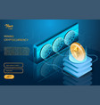 process of mining the cryptocurrency ethereum vector image vector image