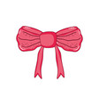 red bow ribbon tape decorative vector image vector image