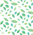 seamless watercolor leaf pattern vector image vector image