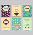 set modern posters with tribal elements ethnic vector image vector image