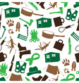simple backwoodsman icons seamless pattern eps10 vector image vector image