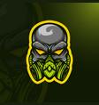 skull mask logo vector image vector image