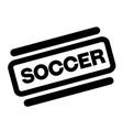 soccer black stamp vector image vector image