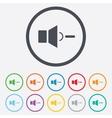 Speaker low volume sign icon Sound symbol vector image vector image