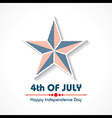 Stylish American Independence Day greeting vector image vector image