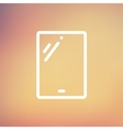 Touch screen tablet thin line icon vector image