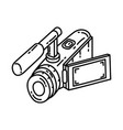 video camera icon doodle hand drawn or outline vector image