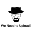 We need to upload man in a hat with beard vector image vector image