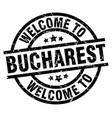 welcome to bucharest black stamp vector image vector image