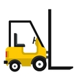 Yellow stacker loader icon flat style vector image vector image