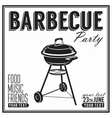 Bbq grill party design poster banner vector image