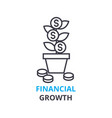 financial growth concept outline icon linear vector image