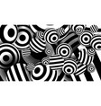 balls black lines striped optical vector image