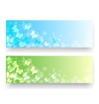 Banners with butterflies vector image vector image