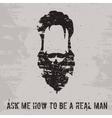 Beard concept vector image vector image