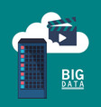 big data cloud video play vector image
