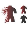 broken pixel halftone body icon vector image vector image