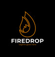 business emblem drop water flame icon flame vector image