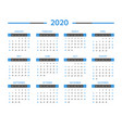 calendar for 2020 year time management vector image