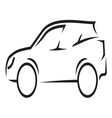 Car outline2 resize vector image vector image