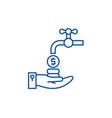 cash flow line icon concept cash flow flat vector image vector image