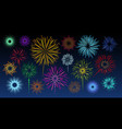 celebration fireworks bursts vector image