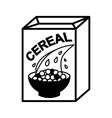 cereal box and bowl vector image