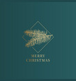 christmas abstract classy label sign vector image vector image